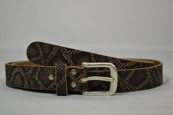Zwart riem 3 cm - 3038 slangenprint