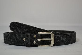 Grijze riem 3 cm - 3038 slangenprint