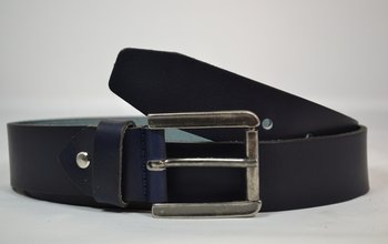 4 cm Jeansriem blauw - 40900